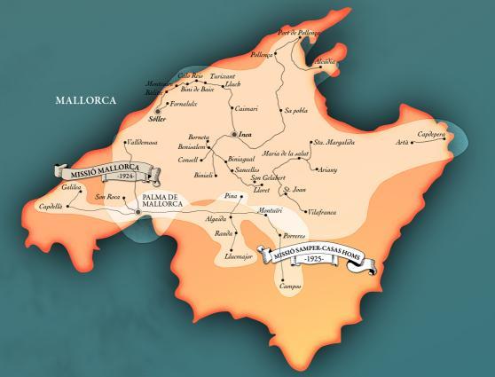 Les missions a l'illa de Mallorca