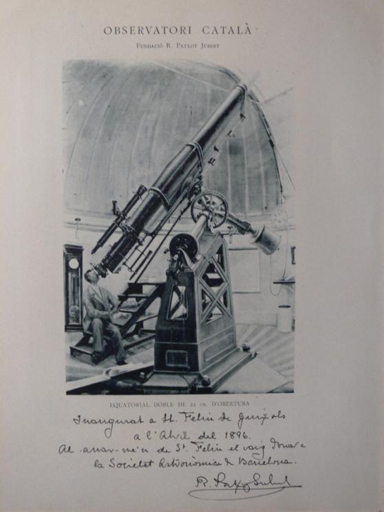 El telescopi amb una nota d'en Patxot