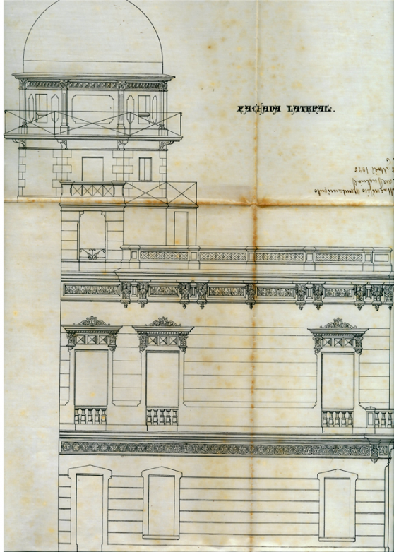 Croquis amb l'Observatori Català (Arxiu municipal de Sant Feliu de Guíxols)
