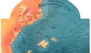 Mapa de les missions a l' espai Patxot a la Masia Mariona