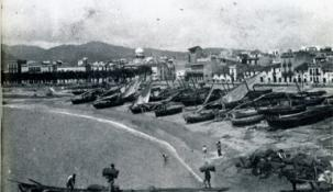 Vista de Sant Feliu de Guíxols amb l'observatori al fons