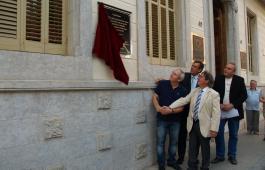 La descoberta de la placa en honor a Rafael Patxot